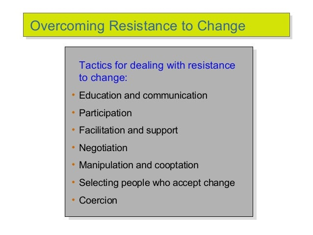 resistance to change definition pdf