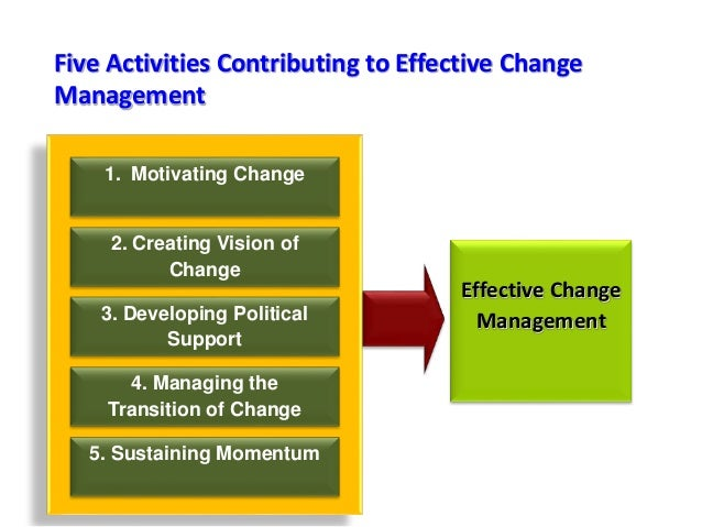 Change Management Essay