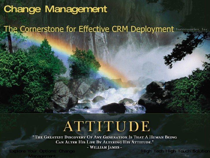 Change Management The Cornerstone for Effective CRM Deployment