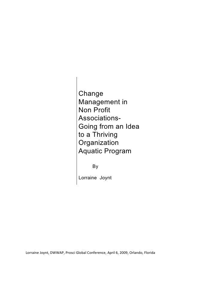 Change                                 Management in                                 Non Profit                           ...