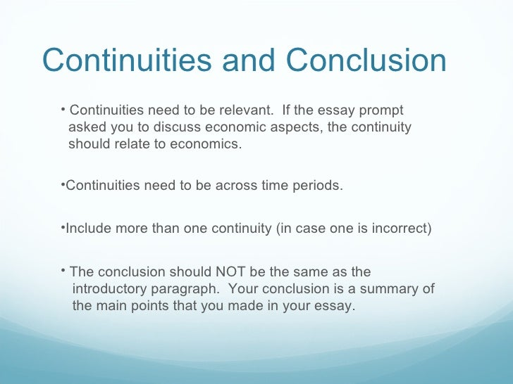 """ap world history continuity and change over time essay prompts Most of the paper topics are taken from the """"continuity and change over time"""" essay portion of past ap world exams instead of writing the paper in class, i am asking that you do research on the question and then write a response which conforms to the ap world standards (see below."""