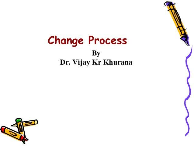 Change Process            By  Dr. Vijay Kr Khurana