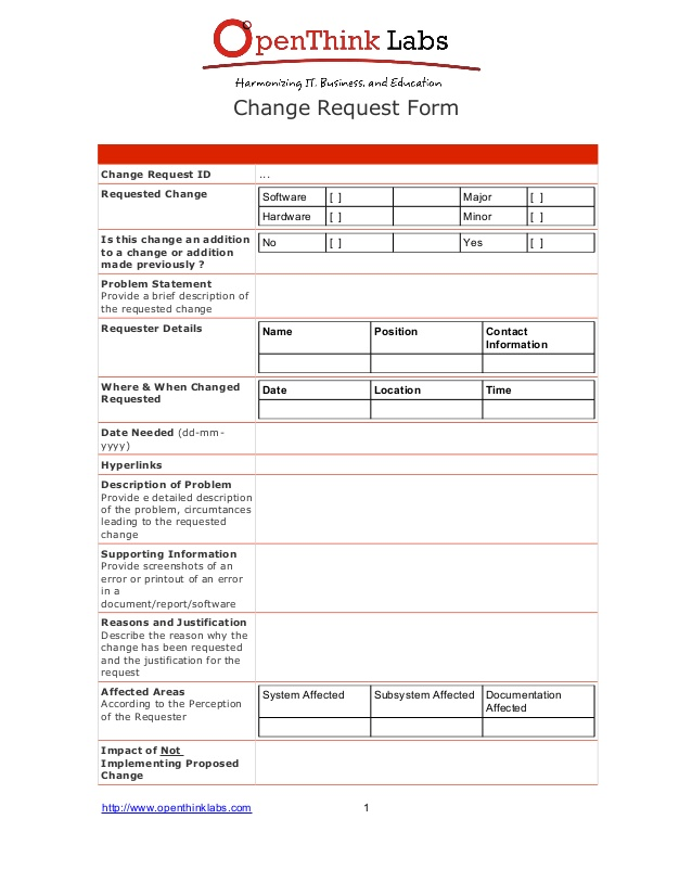 Software change request form template change request formchange request id requested change software spiritdancerdesigns Choice Image