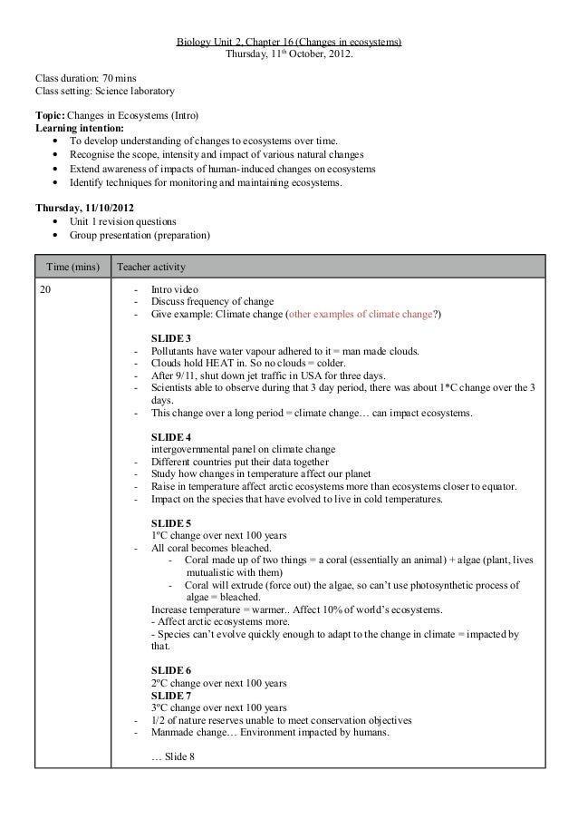 detailed lesson plan in biology I have compiled various lesson plans and worksheets for units covered in most basic biology classes you are free to use these for your own classes.