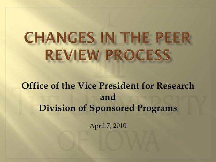 Changes in peer review v3