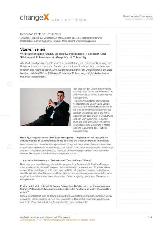 Ressort: Wirtschaft & Management Erscheinungsdatum: 11.04.2014 Interview: Winfried Kretschmer Artikeltags: Illig, Tobias; ...