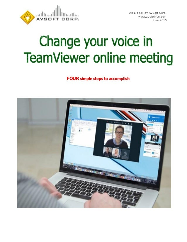 Change Your Voice In Teamviewer Online Meeting
