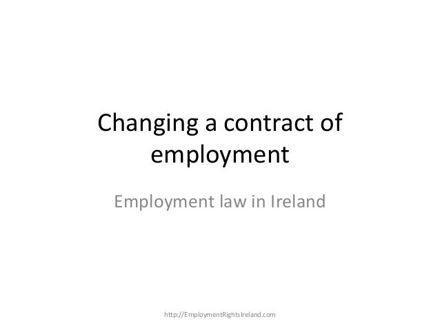 Changing a Contract of Employment in Ireland