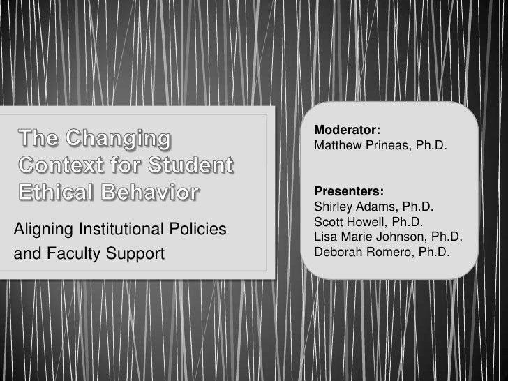 2011Changing Context for Student Ethical Behavior