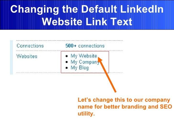 Changing default LinkedIn URL link text