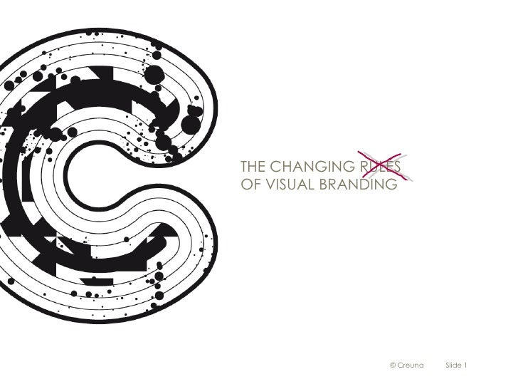 The changing of visual branding