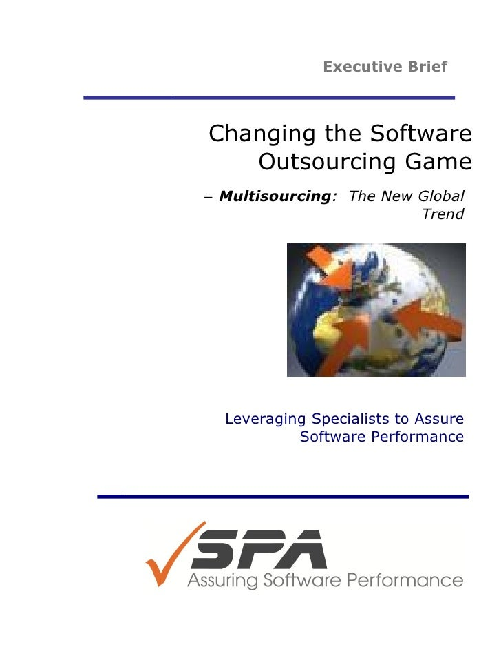 Changing software outsouring game. multisourcing   the new global trend