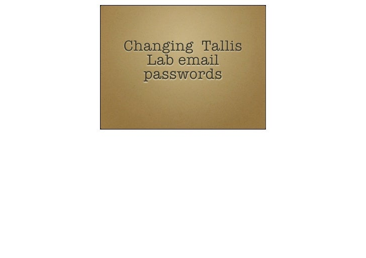 Changing student email passwords