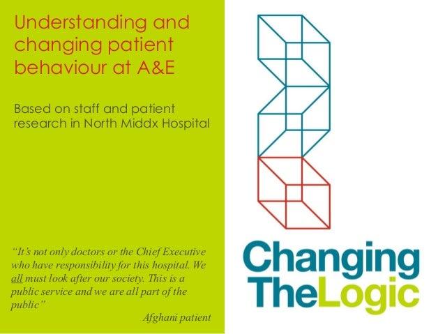 Changing the logic in A&E / ER