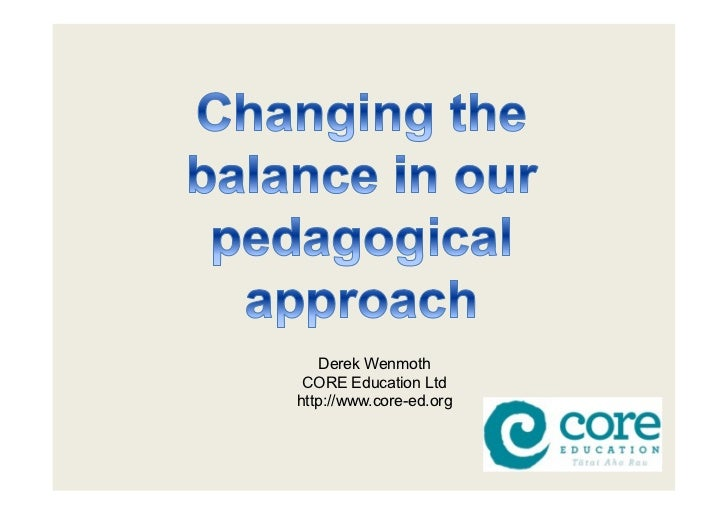 Changing the pedagogical balance
