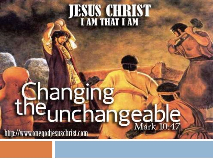 Changing the unchangeable