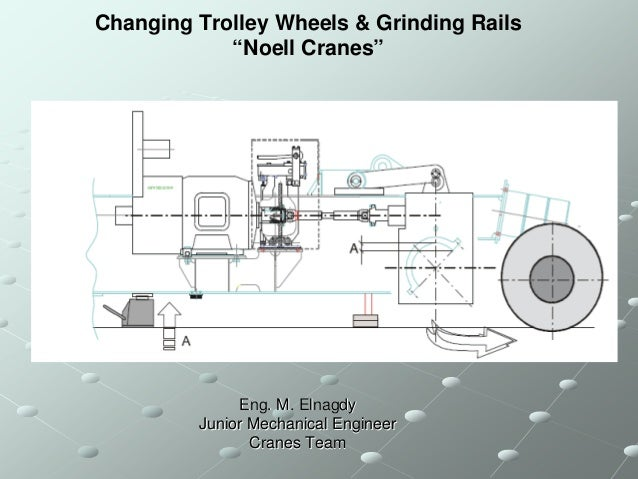 "Changing Trolley Wheels & Grinding Rails            ""Noell Cranes""              Eng. M. Elnagdy         Junior Mechanical ..."
