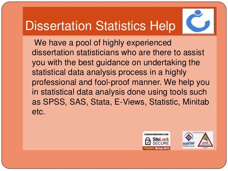 Dissertation statistical services search