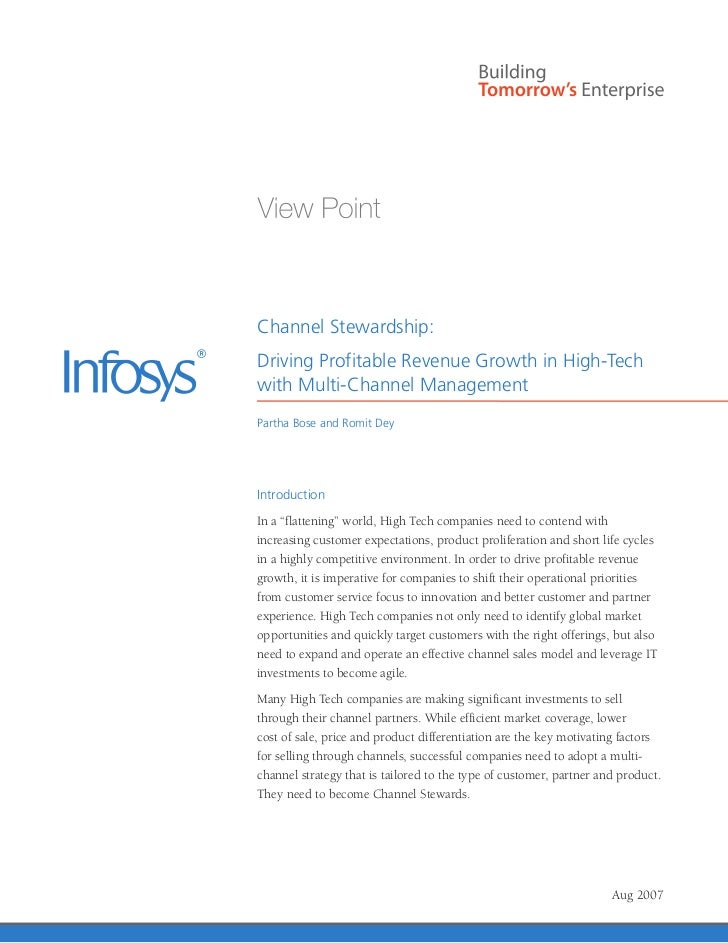Infosys – Multi Channel Management Strategy