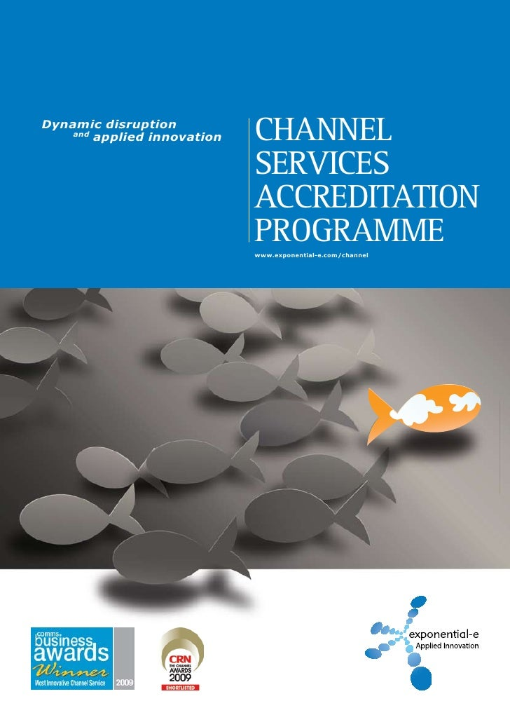 Dynamic disruption     and         applied innovation   Channel                              ServiCeS                     ...