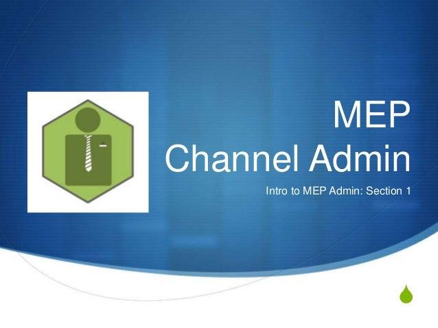 Channel adminppt