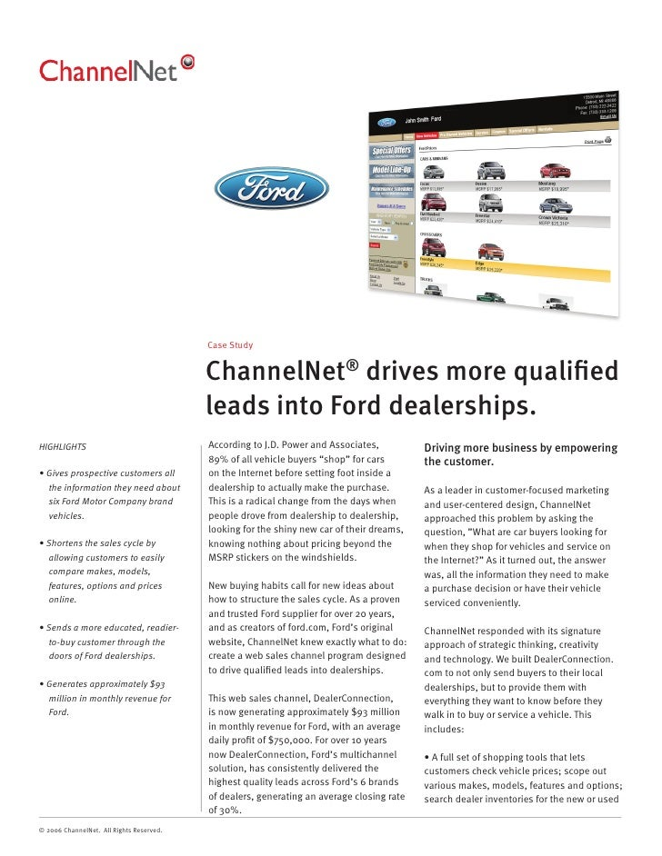 Case Study                                             ChannelNet® drives more qualified                                   ...