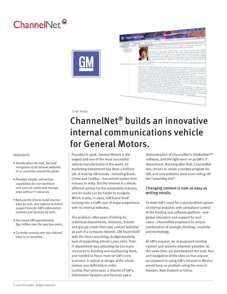 ChannelNet GM Case Study