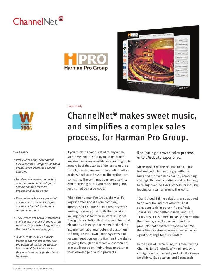 ChannelNet Harman Pro Case Study