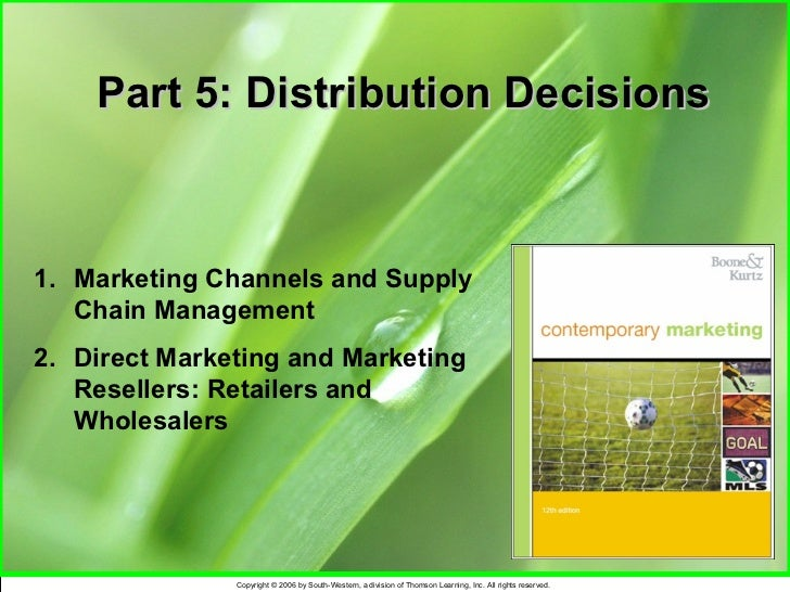 Channels of mkting