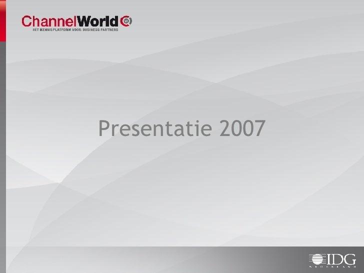 ChannelWorld presentatie