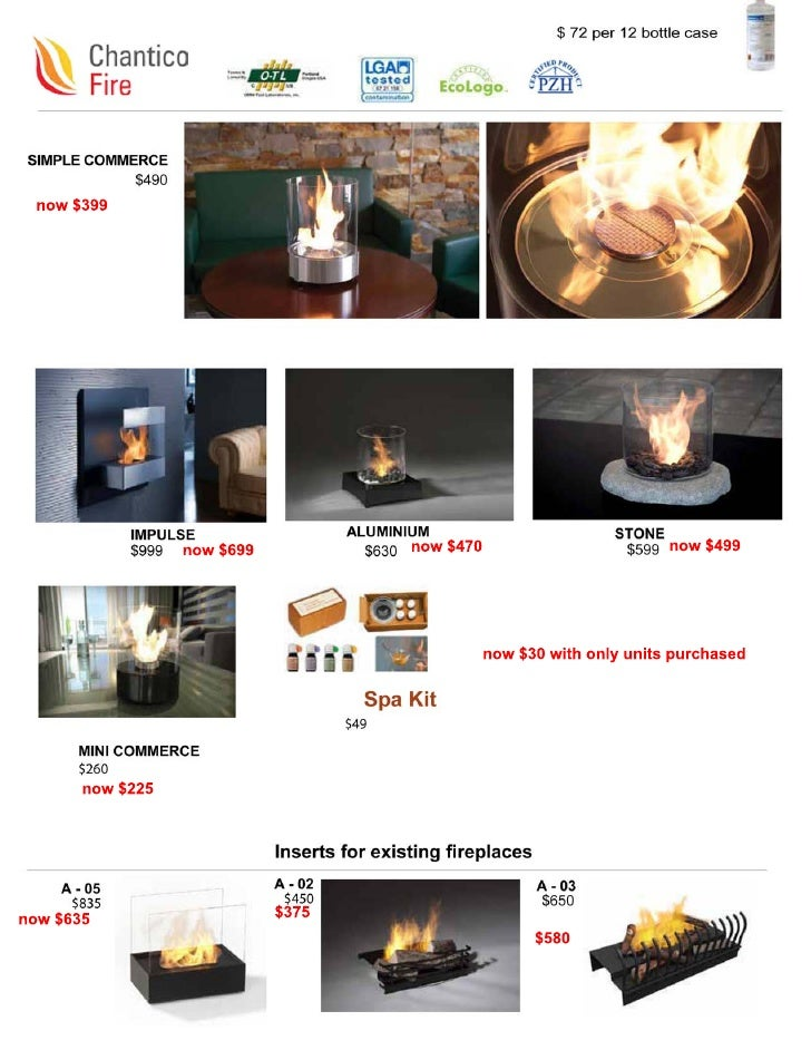 Look at My Fire : Chantico line prices. September only