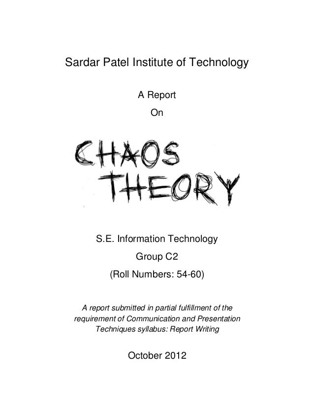 essay on the chaos theory Explaining chaos theory is not easy i am merely going to focus to get closer to it and try explaining in my paper the basics of so called 'chaos theory.