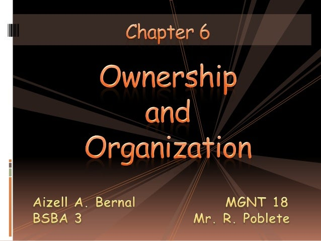 Ownership and Organization