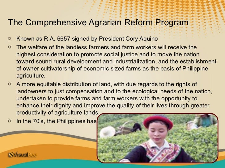 comprehensive agrarian reform program 2 essay Free essay: research pilot project research tittle inflationary cause and remedies in latin american countries research objective aimed at trying to find.