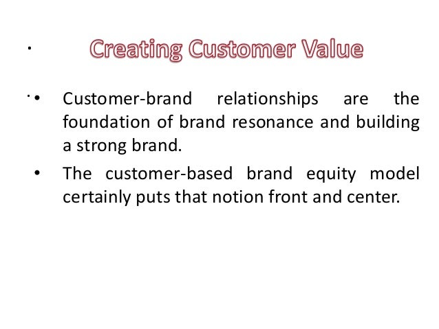 Strong Brands Strong Relationships Customer-brand Relationships