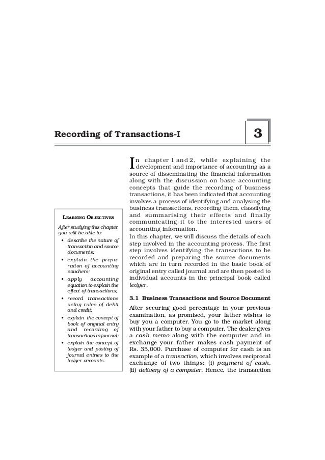 Recording of Transactions-I                                                 3                               I  n chapter 1...