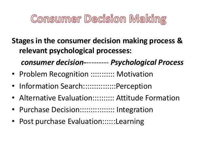 consumer behaviour and decision making process Writepass - essay writing - dissertation topics [toc]introductioncharacteristics that affect consumer behaviour the types of consumer buying decisionsthe components of the decision making processmarket recommendationconclusionreferenceappendixrelated introduction consumer behaviour describes how consumers make purchase decisions and how they.