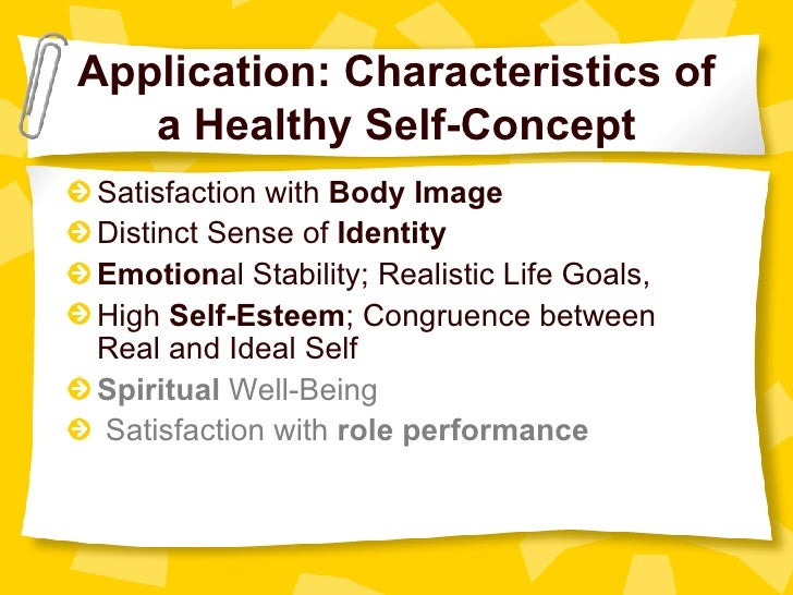 High Self Concept of a Healthy Self-concept