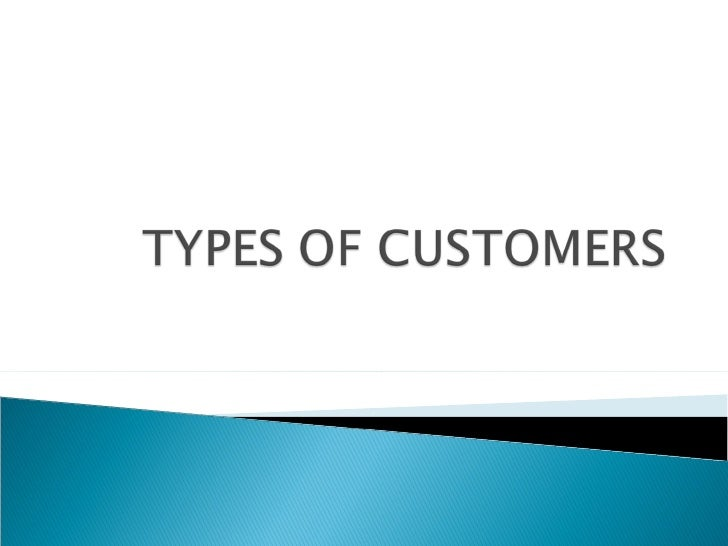 Chap. 4 types of consumer