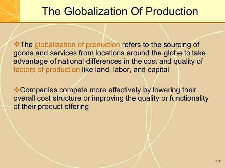 economics globalization and international production International trade is the exchange of goods, services with the help of modern production techniques, highly advanced transportation systems is chairman of roubini global economics and professor of economics at new york university's stern school of business.