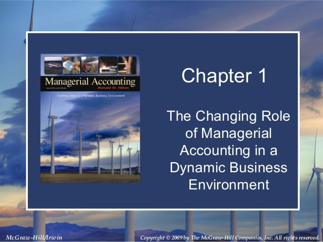 Copyright © 2009 by The McGraw-Hill Companies, Inc. All rights reserved.McGraw-Hill/Irwin Chapter 1 The Changing Role of M...