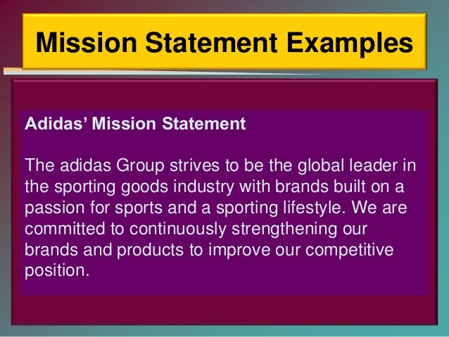 evaluating the mission statement of under armour View homework help - under armour from mgt 439 at texas a&m university texarkana under armour mission & vision under armours has a vision to empower athletes everywhere.