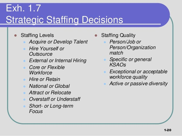 internal staffing strategies To avoid this, your company should develop a staffing strategy  you can't allow  their current managers to block all internal transfers.