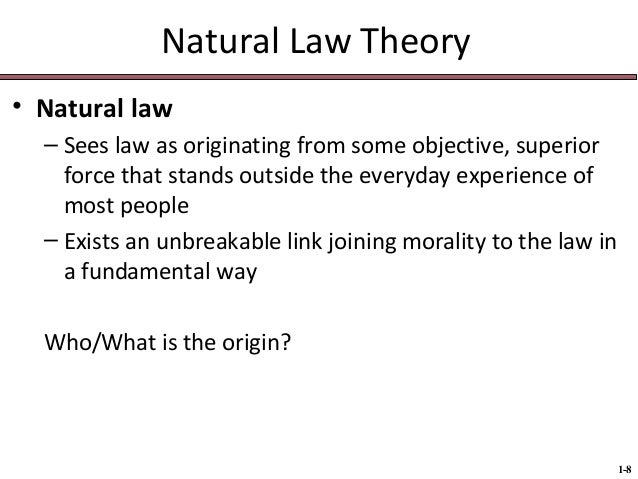 theory of natural law according to There are three schools of natural law theory: known as historical natural law according to discussion of the history of natural law, natural.