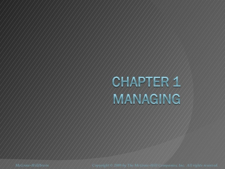 BUS137 Chapter 1