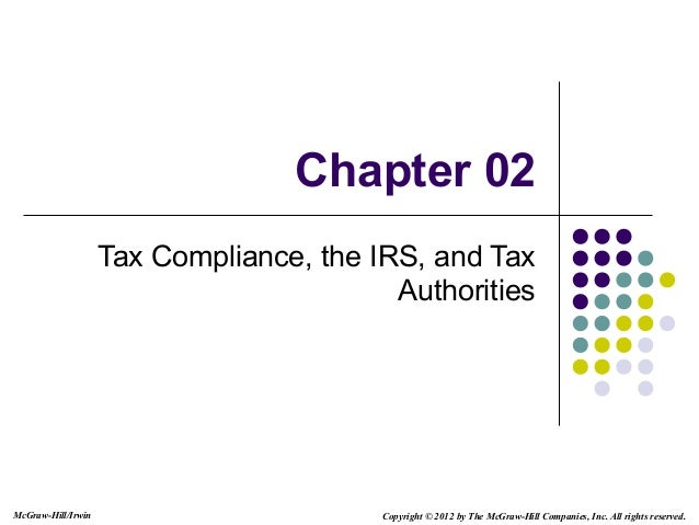 McGraw-Hill/Irwin Copyright © 2012 by The McGraw-Hill Companies, Inc. All rights reserved.Chapter 02Tax Compliance, the IR...