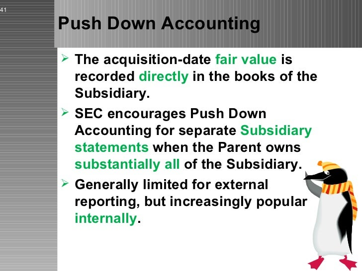 push down accounting 2 | understanding aspe section 1625 as a result of the application of push-down accounting or fresh start accounting financial statement.