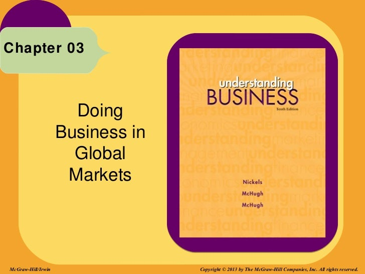 Chapter 03                      Doing                    Business in                      Global                     Marke...