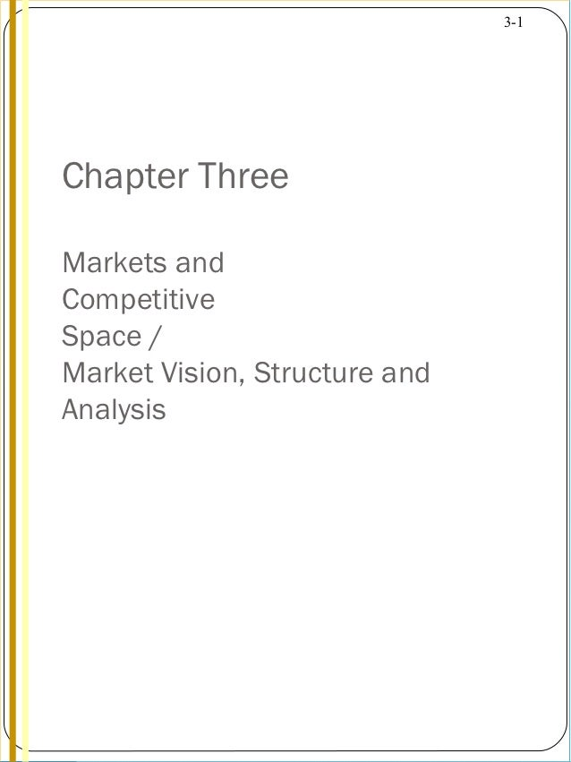 3-1Chapter ThreeMarkets andCompetitiveSpace /Market Vision, Structure andAnalysis