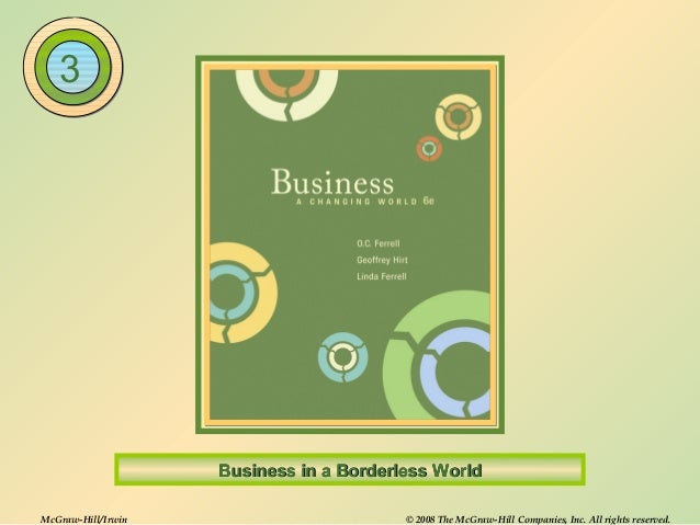 McGraw-Hill/Irwin © 2008 The McGraw-Hill Companies, Inc. All rights reserved.Business in a Borderless WorldBusiness in a B...